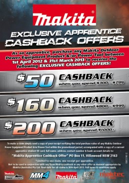 Makita APPRENTICE Offer 2012